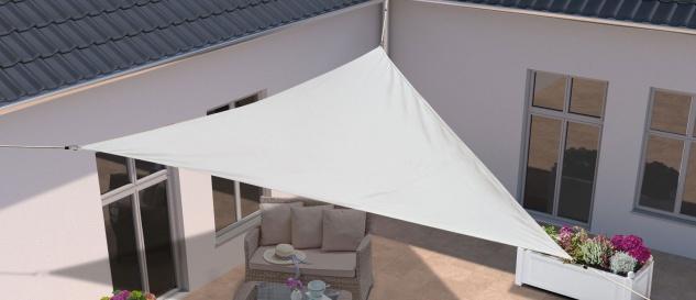 Sonnenschutz Sonnensegel Dreieck UV-Schutz waschbar weiß Polyester 7300068
