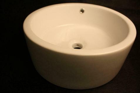 Keramik Waschbecken Waschschale weiß mit Ablauf NEU & OVP 110189