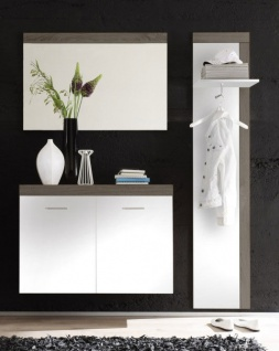 Garderobe Hochschrank Spiegel Schuhschrank Garderobenpaneele NEU & OVP
