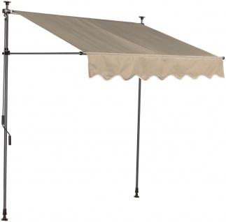 Klemmmarkise Markise Gartenmarkise Sonnenschutz UV-Schutz Kurbelantrieb 7210060