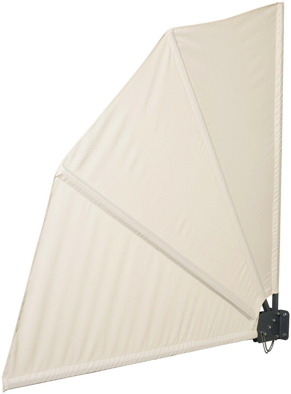Sichtschutz Balkonfacher Markise Seitenmarkise Weiss Uvp 49 99