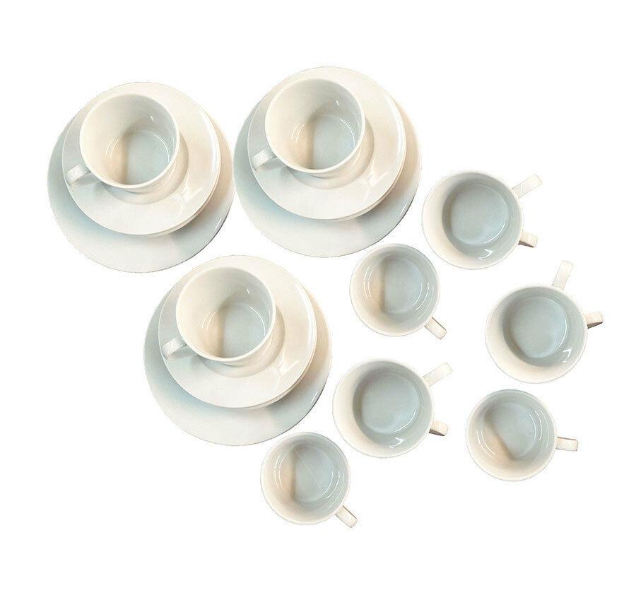 Perfect Geschirr Set Tasse Teller Gro Klein Wei Porzellan Teilig Neu Ovp With