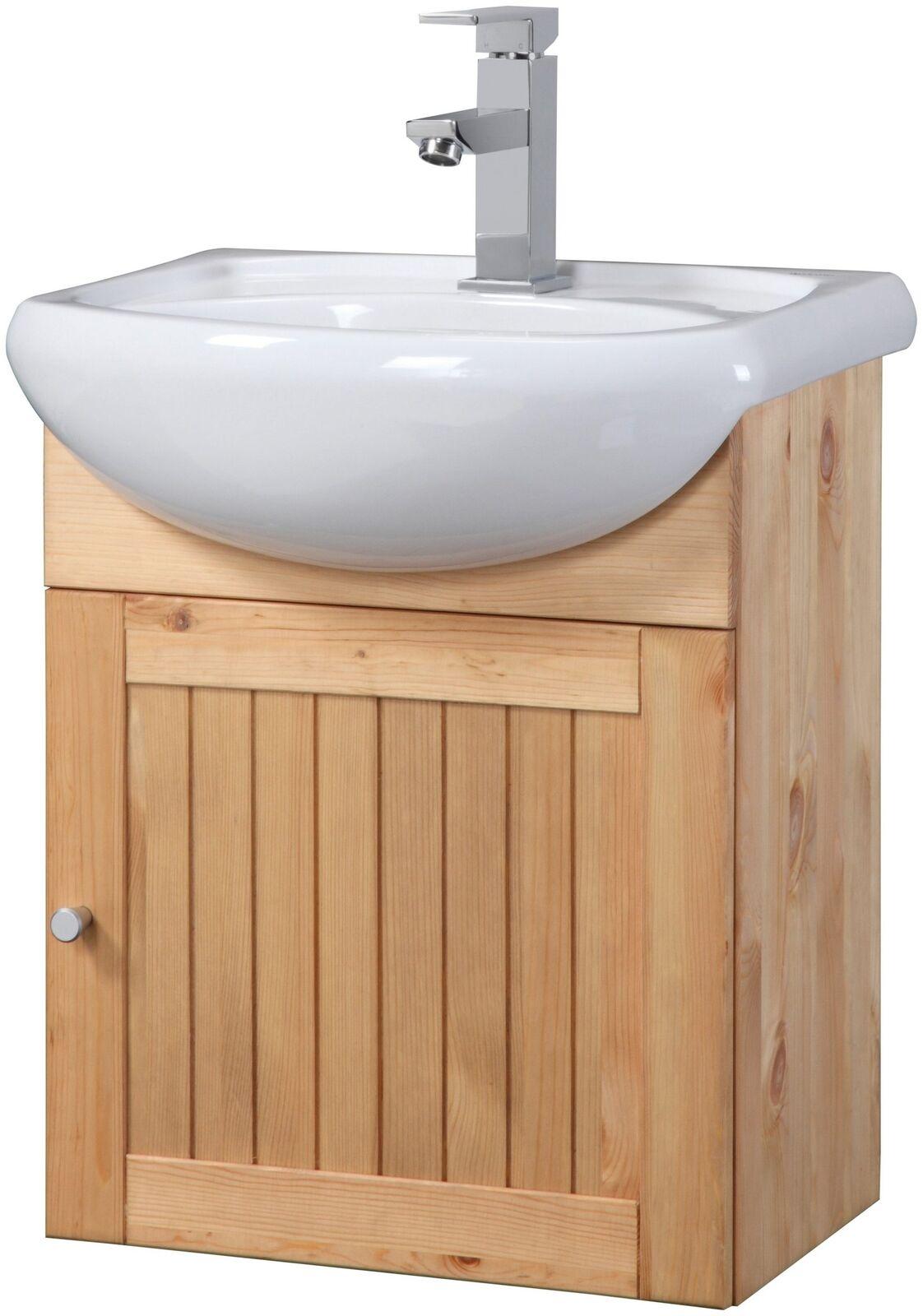 Waschtisch Waschplatz Waschbecken Schrank Natur 45cm UVP 99, 99u20ac 7100584
