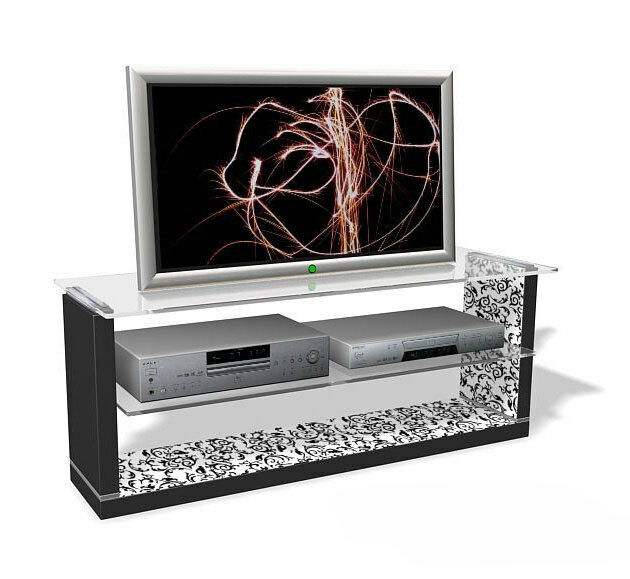 Tv Lowboard Tv Rack Weiss Floral Muster Neu Ovp 110347 Kaufen