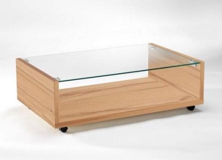 Couchtisch Tisch Beistelltisch Glasplatte Kernbuche-Dekor 2521183 NEU & OVP