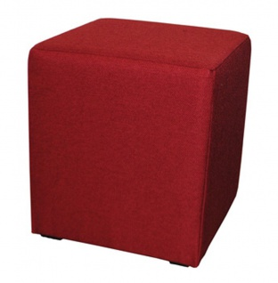 Hocker Beistelltisch rot Stoff Würfel Sitzwürfel Sitzhocker NEU & OVP 2521685