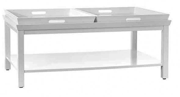 Tisch Beistelltisch Couchtisch Tablett weiß NEU & OVP
