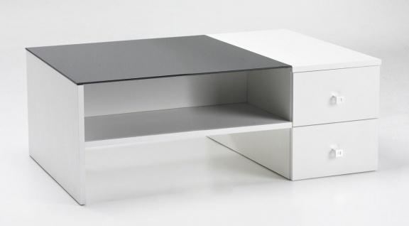Couchtisch Tisch Wohnzimmertisch Weiß Schwarz Schubkästen DOPPIA Neu & OVP