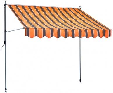 Klemmmarkise Markise Gartenmarkise Sonnenschutz UV-Schutz Kurbelantrieb 7210069