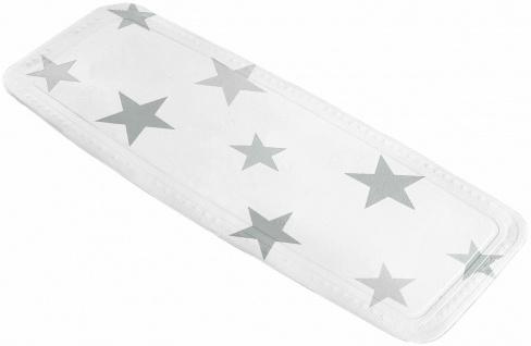 Wanneneinlage Einlage Badewanne Dusche Anti-Rutsch Teppich Sterne grau weiß
