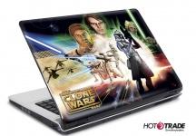 Laptop Notebook Netbook Skin Sticker Folie Schutz Aufkleber Clone Wars 26x19