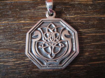 edler Anhänger Amulett keltische Distel und Harfe Lyra Leier 925er Silber neu