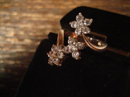 bezaubernder Vintage Designer Ring Stern Sterne Sternchen 925er Silber Zirkonia - Vorschau 2