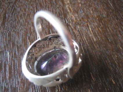 traumhaft schöner Unikat Ring Mystik Topas Mystictopaz Durchbruch 925er Silber - Vorschau 4