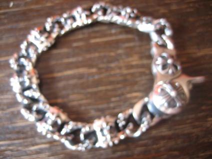 massives edles Herren Armband Fleur de Lys Lilie 925er Silber 64 gr 22 cm lang - Vorschau 1