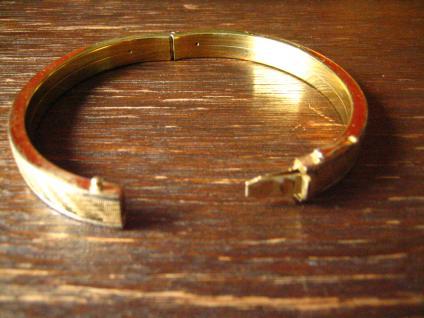 zeitlos eleganter Art Deco Armreif mit dezentem Muster gold silber bicolor Optik - Vorschau 3