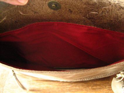 luxuriöse echt Leder Tasche Clutch Kroko Prägung schwarz Designer R. Leonardi - Vorschau 5