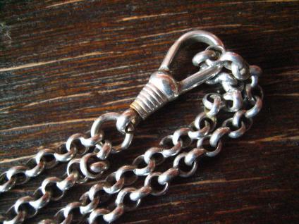 überlange Jugendstil Schieberkette Damen Uhrenkette 148 cm Schieber 800er Silber - Vorschau 4