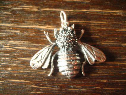 schöne plastische Biene Wespe Hummel als Anhänger lebensecht 925er Silber neu