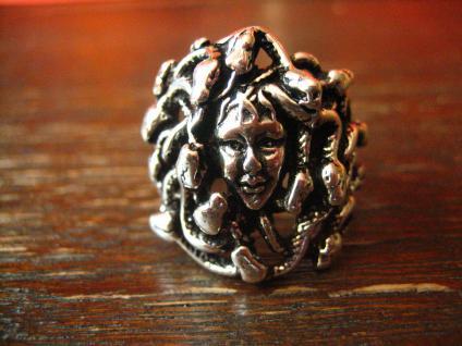 prächtiger Medusa Ring Frau Schlangen plastisch 925er Silber neu et Nox RG 62
