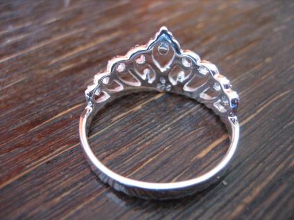 anmutiger Ring Krone Krönchen Tiara 925er Silber wunderschön neu RG 60 19 mm - Vorschau 4