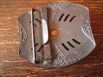 Sammler Rarität antike Biedermeier Gürtelschließe Gürtelschnalle Eisen brüniert - Vorschau 2