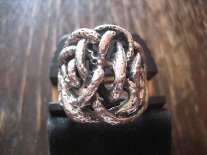 opulenter moderner Statement Designer Ring Ranken floral 925er Silber NEU RG 62