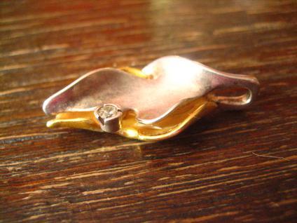 prächtiger Vintage Designer Anhänger Charisma Günthner GmbH sg 925er Silber gold - Vorschau 2