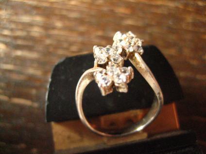 bezaubernder Vintage Designer Ring Stern Sterne Sternchen 925er Silber Zirkonia - Vorschau 3