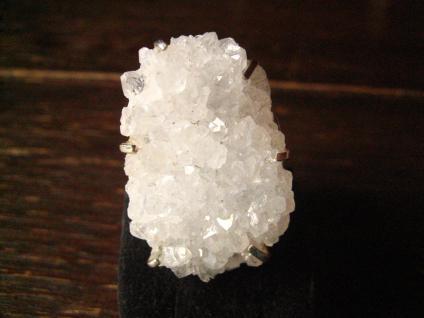 einmaliger Designer Statement Ring Quarz Kristall 925er Silber Unikat jede Größe