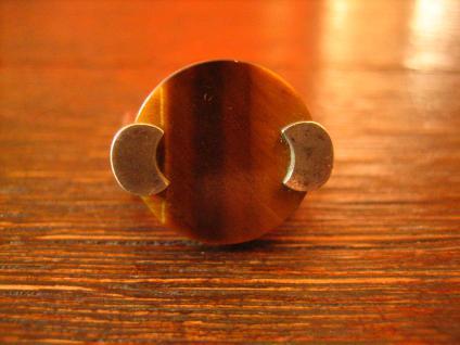 exklusiver vintage Designer Ring 835er Silber schimmerndes Tigerauge RG 55 - Vorschau 2