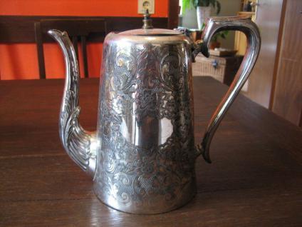 prächtige reich verzierte Teekanne Silberkanne Dekotraum silber plated Sheffield