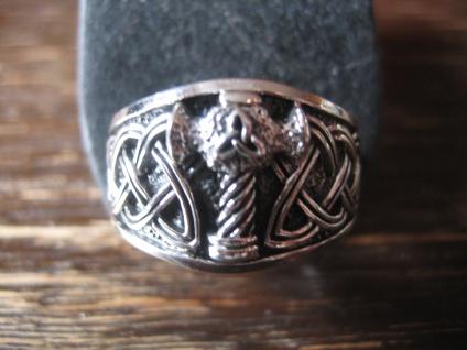 mächtiger Ring Herrenring Thorhammer Thors Hammer 925er Silber et NOX RG 65 NEU