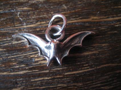 winzige Fledermaus Anhänger für Kinder Bettelarmband 925er Silber Bat Vampire