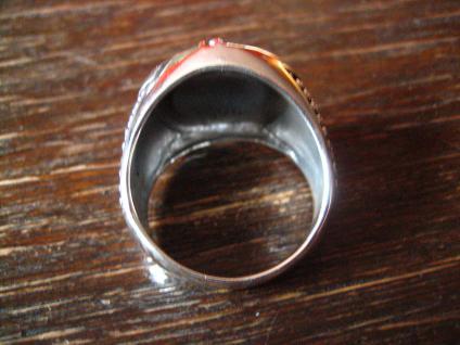 maritimer Herrenring Ring Kompass und Anker 925er Silber neu et Nox 20, 5 mm RG 65 - Vorschau 3