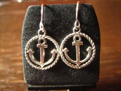 maritime Anker Ohrringe Hänger Chandeliers 925er Silber neu für die Piratenbraut