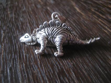 witziger großer Anhänger Dinosaurier Dino Stegosaurus beweglich 925er Silber