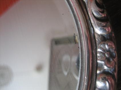 prächtiger antiker Spiegel Handspiegel silber pl für Frisiertisch und Boudoir - Vorschau 4