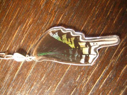 Schatz der Natur Anhänger Schmetterlingsflügel G 925er Silber Kette Eco Friendly - Vorschau 2