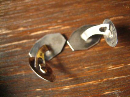 edle Art Deco Manschettenknöpfe 835er Silber feines florales Muster sehr elegant - Vorschau 3