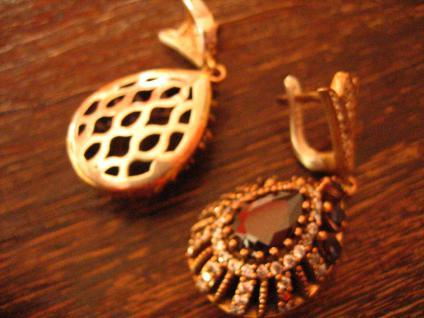 Kronjuwelen gesucht ? opulente Ohrringe Hänger 925er Silber Zirkonia brillant - Vorschau 4