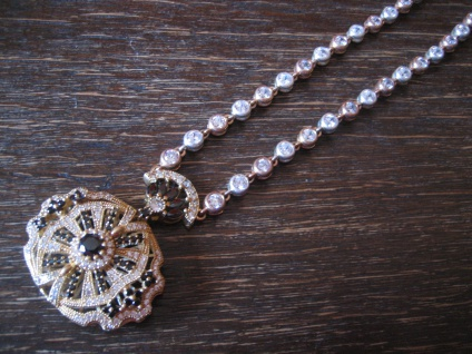 Kronjuwelen gesucht ? prunkvolles Zirkonia diamant Collier 925er Silber gold