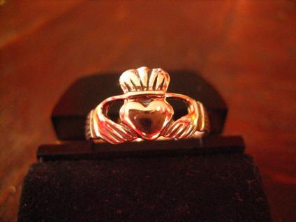 feiner Claddagh Ring Herz Krone Hände Hochzeitsring 925er Silber RG 60 et Nox - Vorschau 1