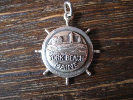 Anhänger Bettelarmband York Beach Maine USA Andenken 925er Sterling Silber Charm