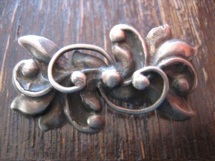 nostalgische Jugendstil Brosche floral Stechpalme Mistel 800er Silber getrieben - Vorschau 2