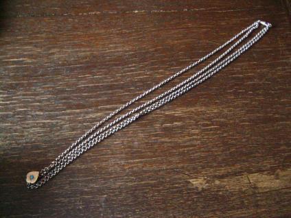 überlange Jugendstil Schieberkette Damen Uhrenkette 148 cm Schieber 800er Silber - Vorschau 2