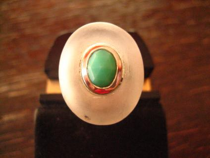 extravaganter vintage Designer Ring 925er Silber satinierter Bergkristall