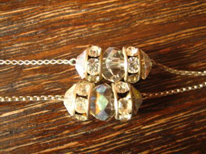 Traum Aurora Borealis Strass Collier Vintage Rhinestone Pendant Glitzerspass - Vorschau 3