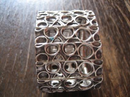 exklusiver klassischer Statement Armreif Armband 4 cm Designer Leonardi Arte silber
