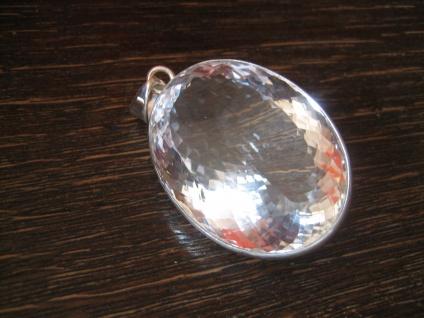 atemberaubender Statement Anhänger riesiger Bergkristall sehr klar 925er Silber - Vorschau 2